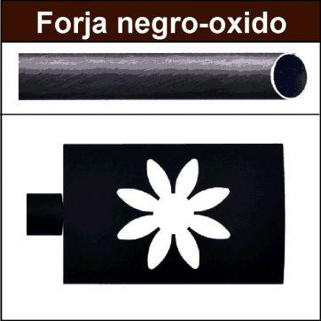 Barra negro oxido de forja para cortina 19 Estrella