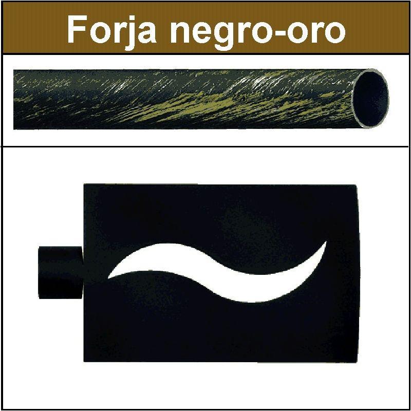 Barra de forja para cortina 19 onda negro oro - Barras de forja para cortinas ...
