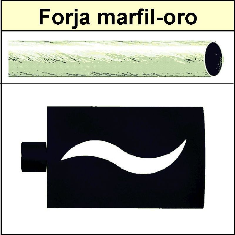 Barra de forja para cortina 19 onda marfil oro - Barras de forja para cortinas ...