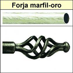 Barra para cortinas forja 30/19 Trenza marfil oro