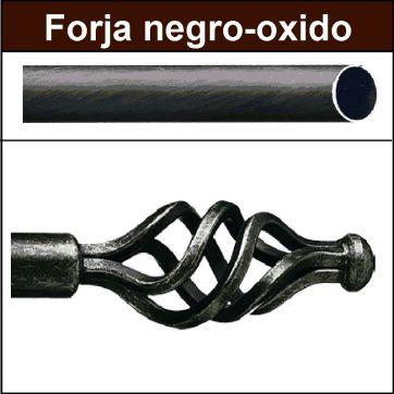 Barra para cortinas forja 30/19 Trenza negro oxido