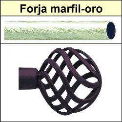 Barra para cortinas forja 30/19 Feria marfil oro