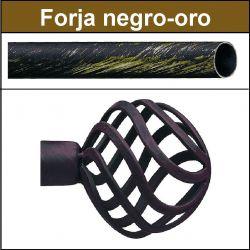Barra para cortinas forja 30/19 Feria negro oro