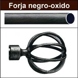 Barra para cortinas forja 30/19 Terra negro oxido
