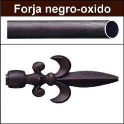 Barra para cortinas forja 19/19 Flor de Lys negro oxido