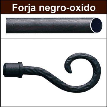 Barra para cortinas forja 19/19 Baculo negro oxido