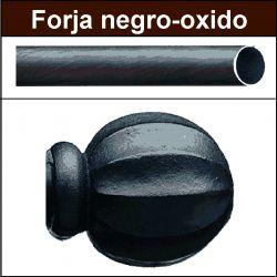 Barra para cortinas forja 19/19 Bola negro oxido