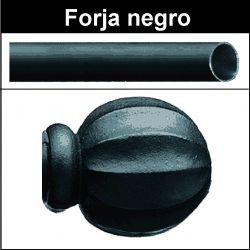 Barra para cortinas forja 19/19 Bola negro