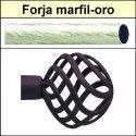 Barra para cortinas forja 19/19 Feria marfil oro