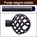 Barra para cortinas forja 19/19 Feria negro oxido