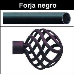 Barra para cortinas forja 19/19 Feria negro