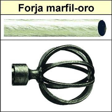 Barra para cortinas forja 19/19 Terra marfil oro
