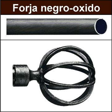 Barra para cortinas forja 19/19 Terra negro oxido