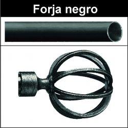 Barra para cortinas forja 19/19 Terra negro
