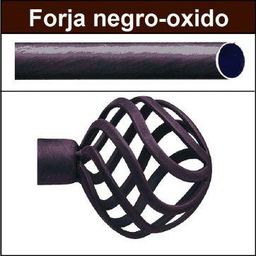 Barra para cortinas forja 19 Feria negro oxido