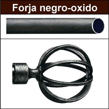 Barra para cortinas Forja 19 Terra negro oxido