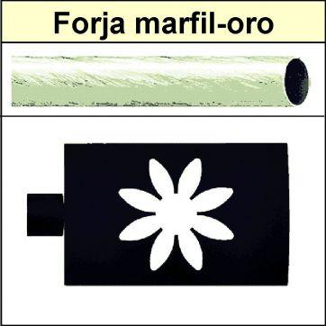 Barra para cortinas Forja 30/19 Estrella marfil oro