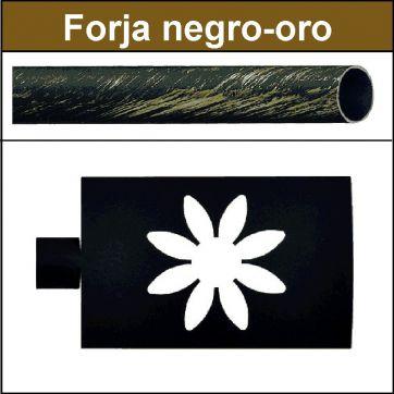 Barra para cortinas Forja 30/19 Estrella negro oro