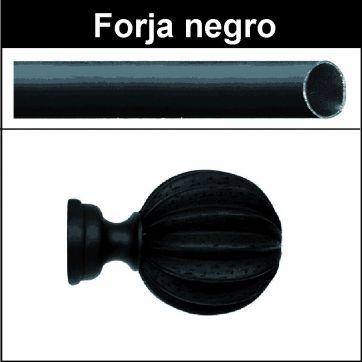 Barra para cortinas Forja 30/19 Gajos negro