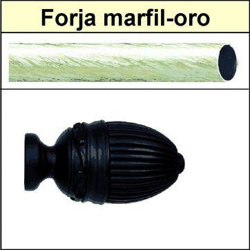 Barra para cortinas Forja 30/19 Coliseum marfil oro