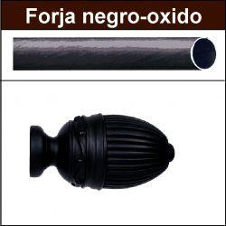 Barra para cortinas Forja 30/19 Coliseum negro oxido