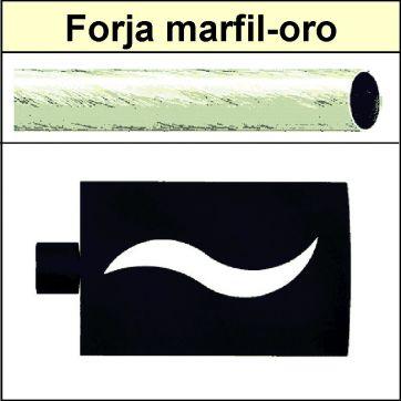 Barra para cortinas Forja 19/19 Onda marfil oro
