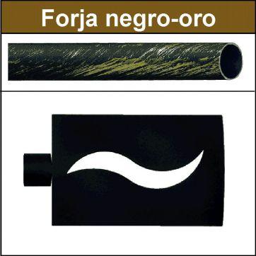 Barra para cortinas Forja 19/19 Onda negro oro