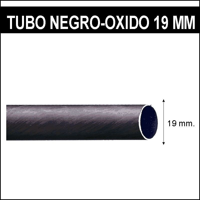 Barra para cortinas forja 19 trenza negro oxido - Barras de forja para cortinas ...