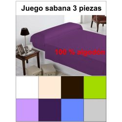 Conjunto 3 piezas funda nordica colores 100% alg.