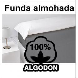 Funda almohada blanco de sabana 100% algodón