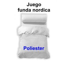 Funda nordica 3 piezas blanco 50 alg./50 pol.