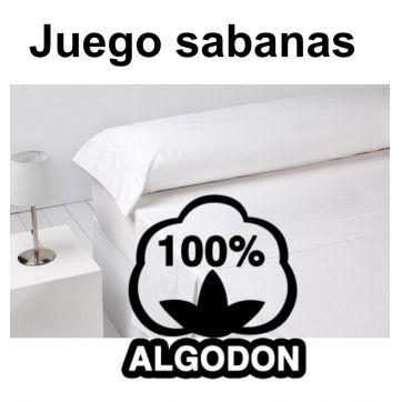 Juego sabanas blanco 3 piezas 100% algodón