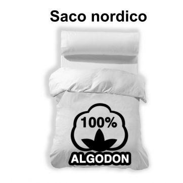Saco funda nordica blanco 100% algodón