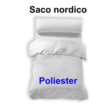 Saco funda nordica blanco 50 alg./50 pol.