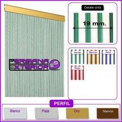 Cortina exterior de paso mod. cinta bicolor opaca
